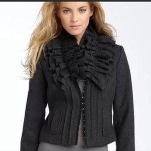 Anthropologie Hinge Wool Blend Cropped Coat